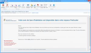 vrai email impots